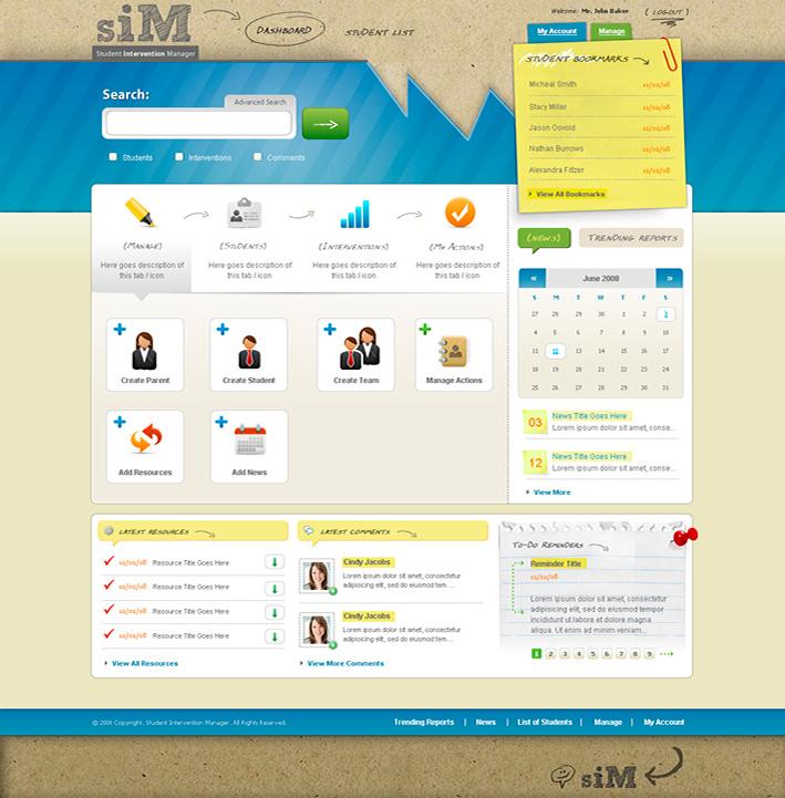Website Capture: Student Intervention Manager