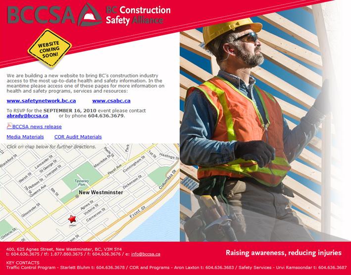 Website Capture: BC Construction Safety Alliance