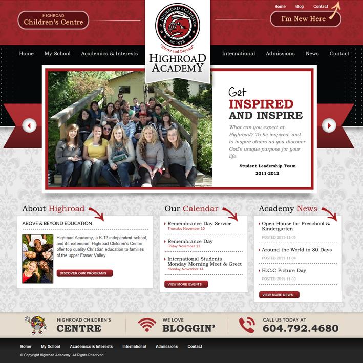 Website Capture: Highroad Academy