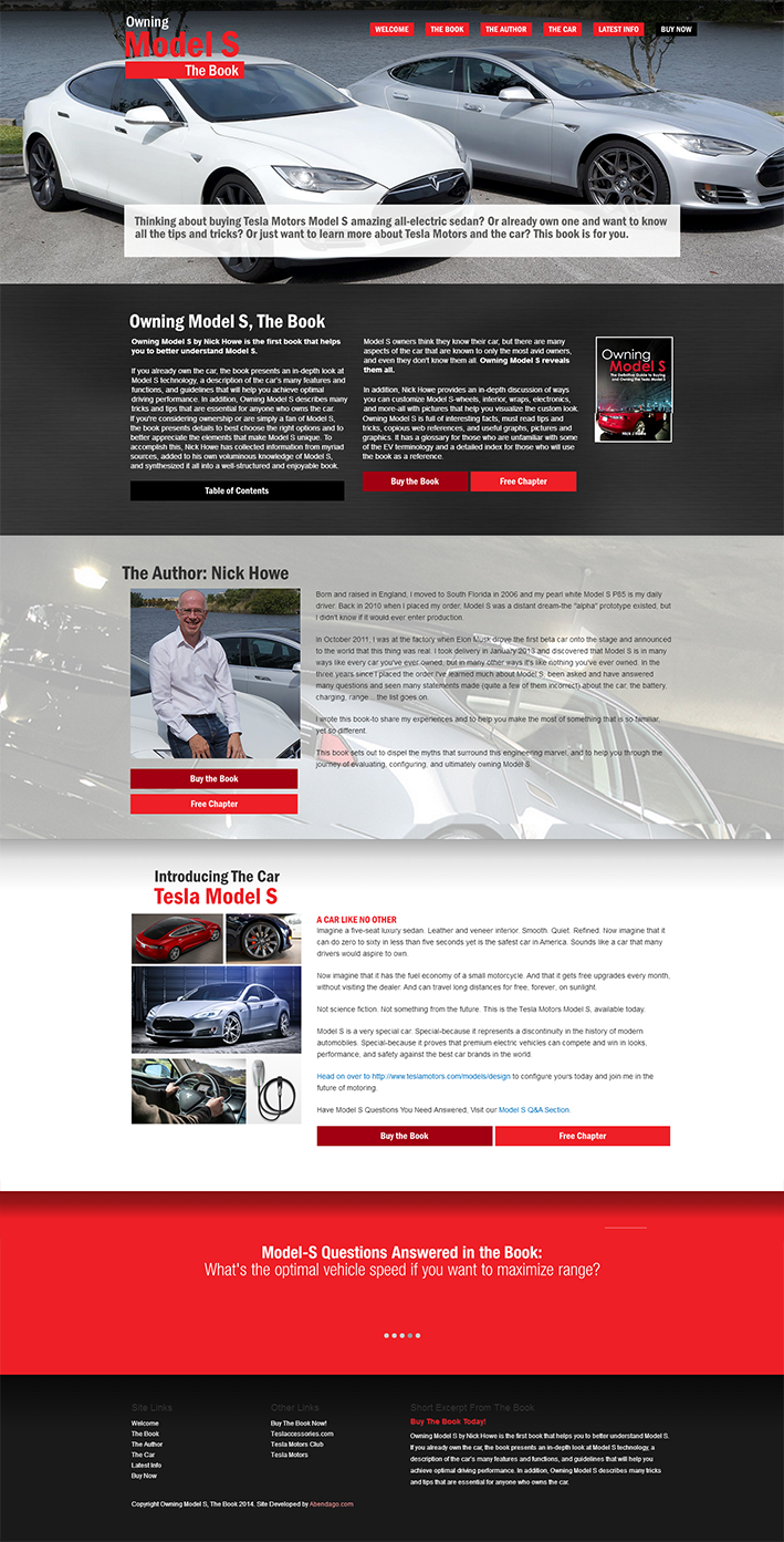 Website Capture: Owning Model S, The Book