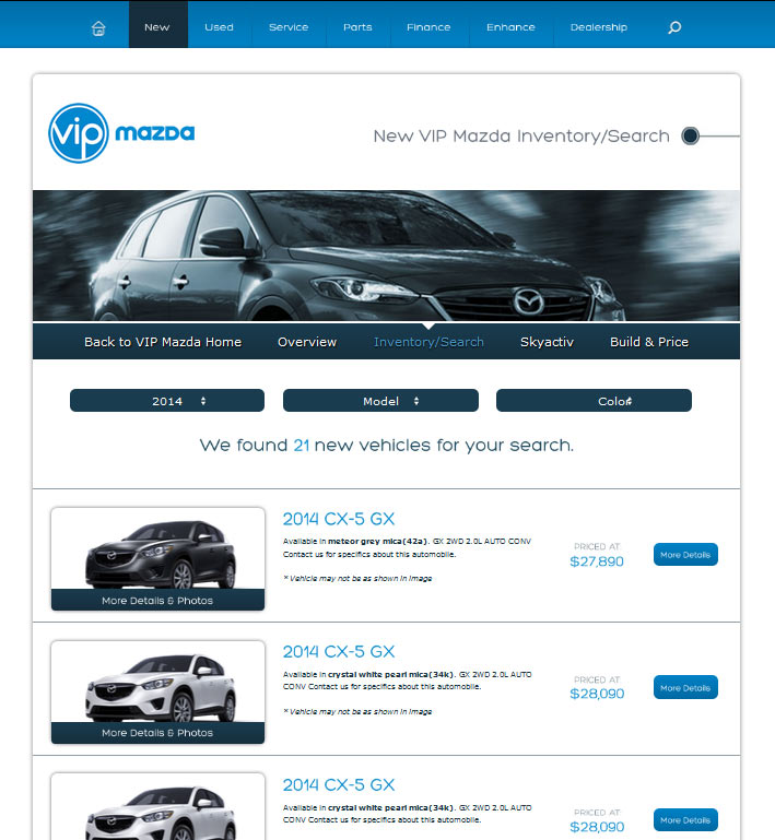 Website Capture: New Site For VIP Mazda