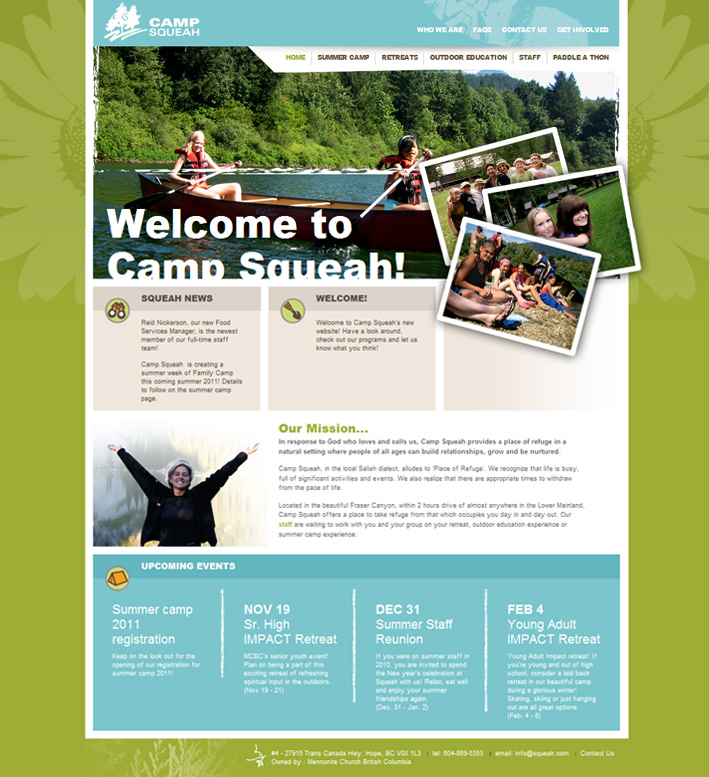 Website Capture: Camp Squeah