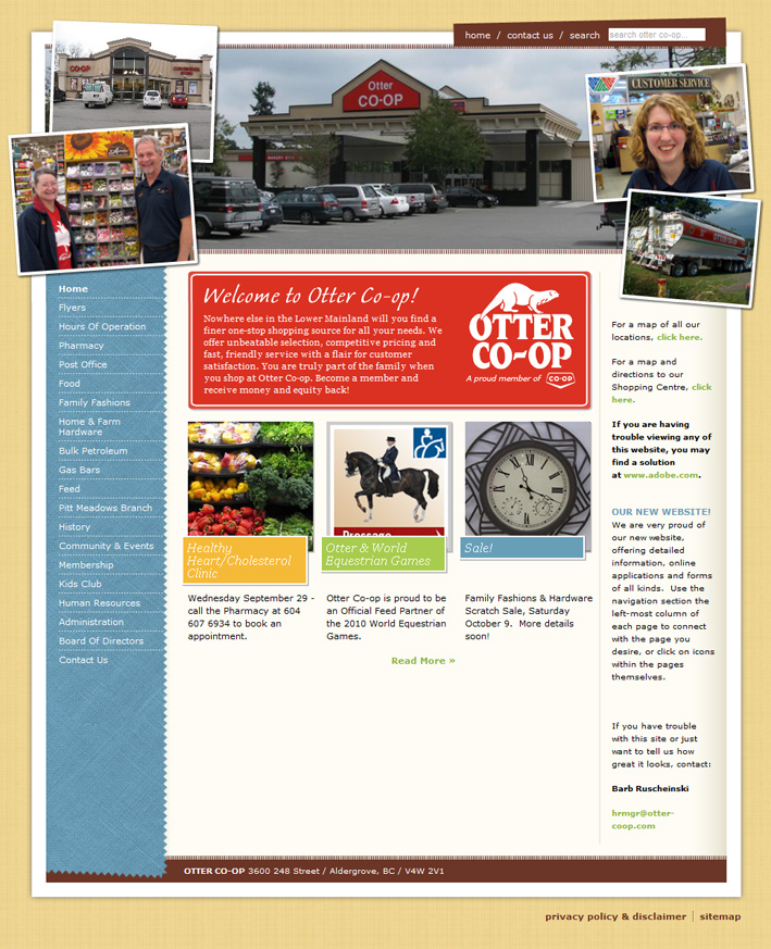 Website Capture: Otter Co-Op Website Development