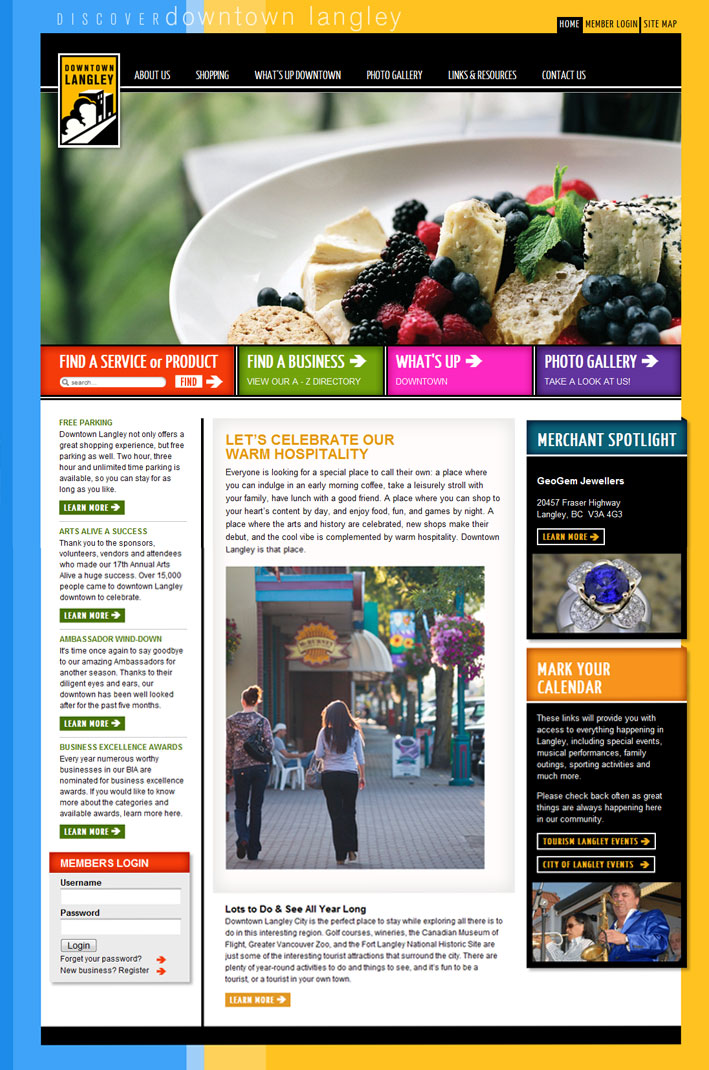 Website Capture: Downtown Langley Merchants Association