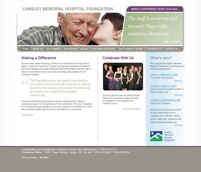 Website Capture: Langley Memorial Hospital Foundation