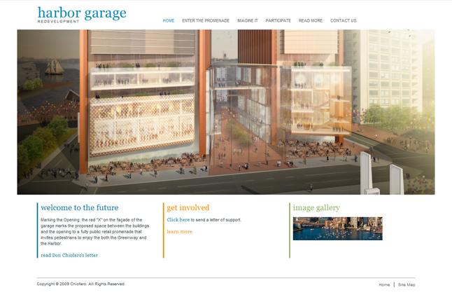Website Capture: Chiofaro - Harbor Garage Project