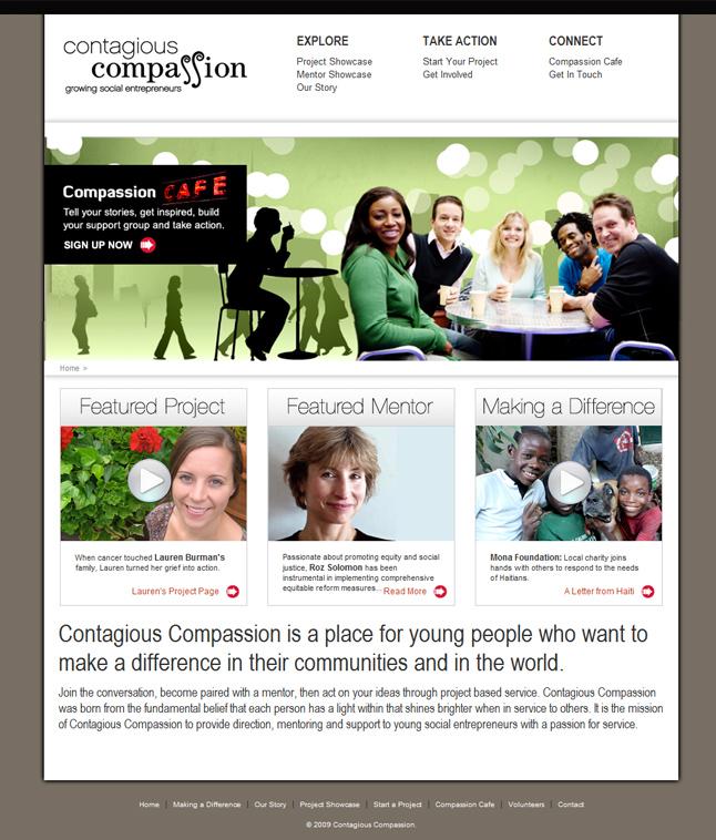 Website Capture: Contagious Compassion