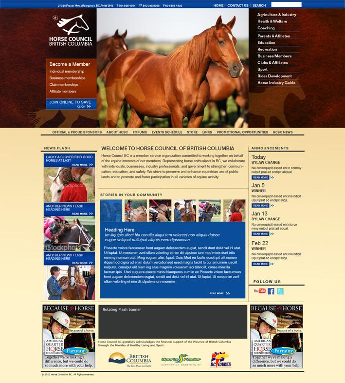 Website Capture: Horse Council of BC
